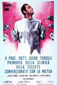 Il prof. Dott. Guido Tersilli, primario della clinica Villa Celeste convenzionata con le mutue